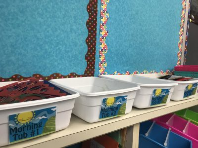 morning activities for students - morning bins